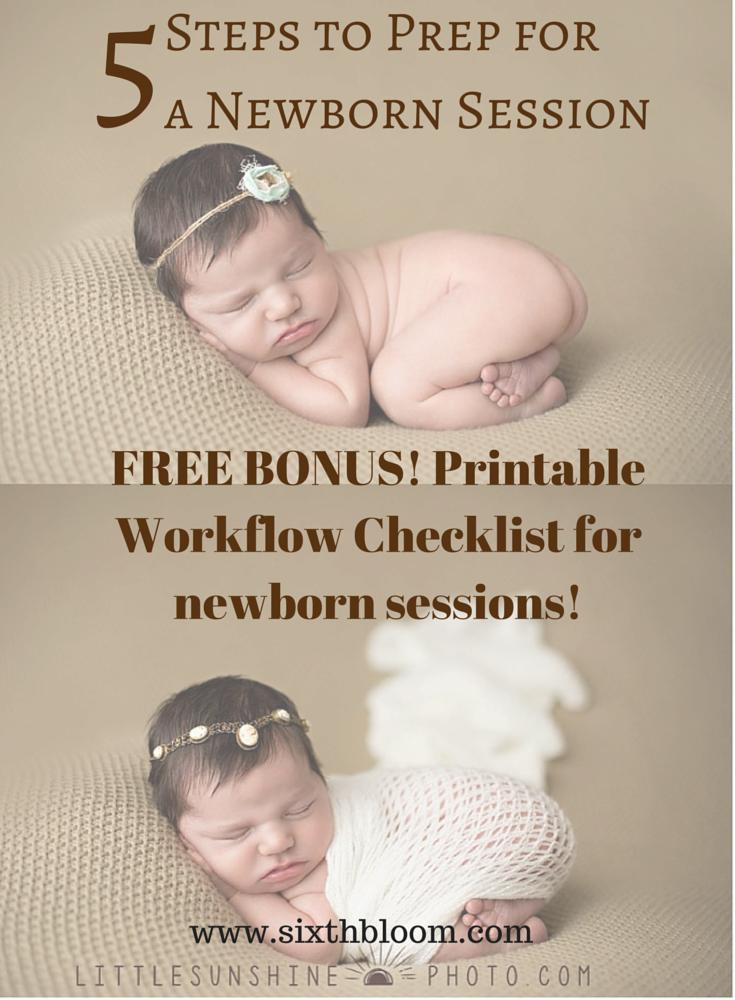 5 Steps to Prep for  a Newborn Session