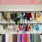 DIY Organize your Newborn Props for less than $100