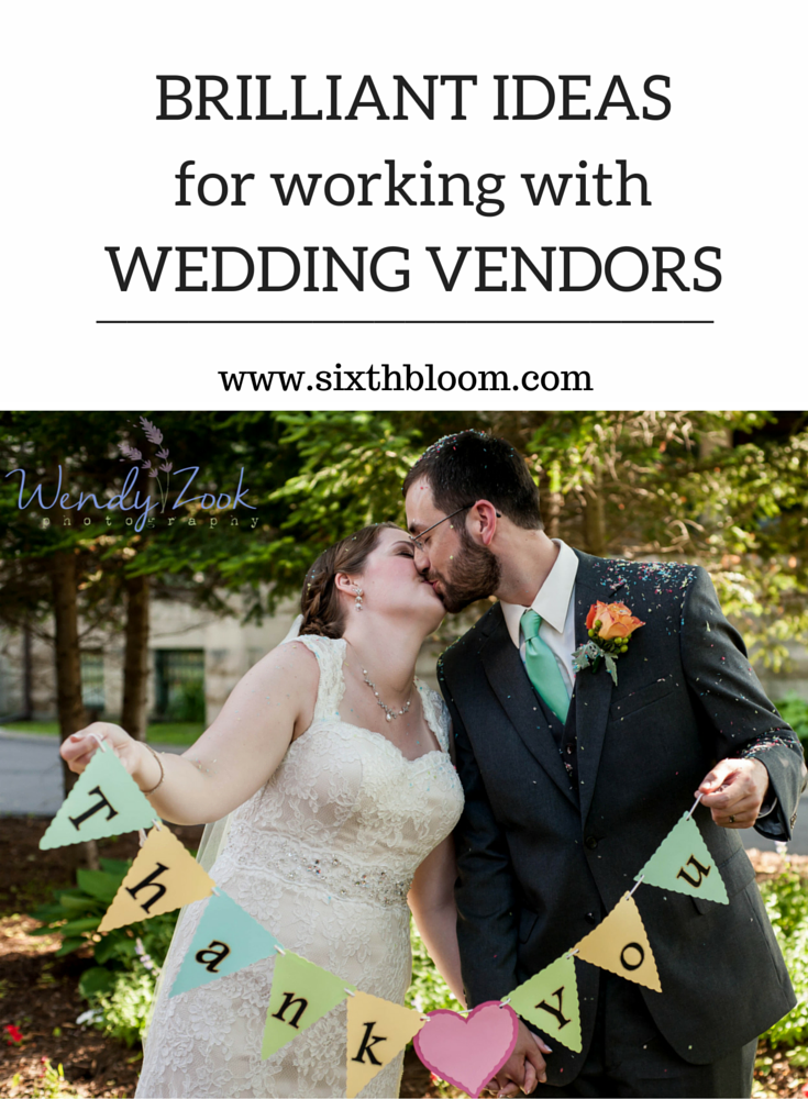Working with Wedding Vendors