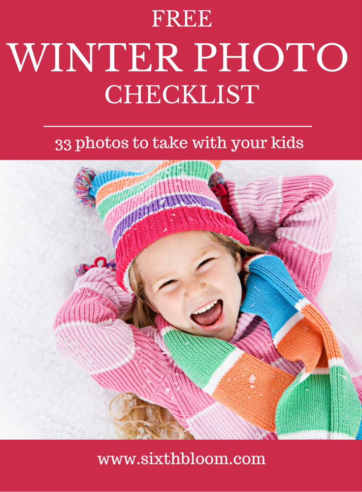 winter pictures with kids