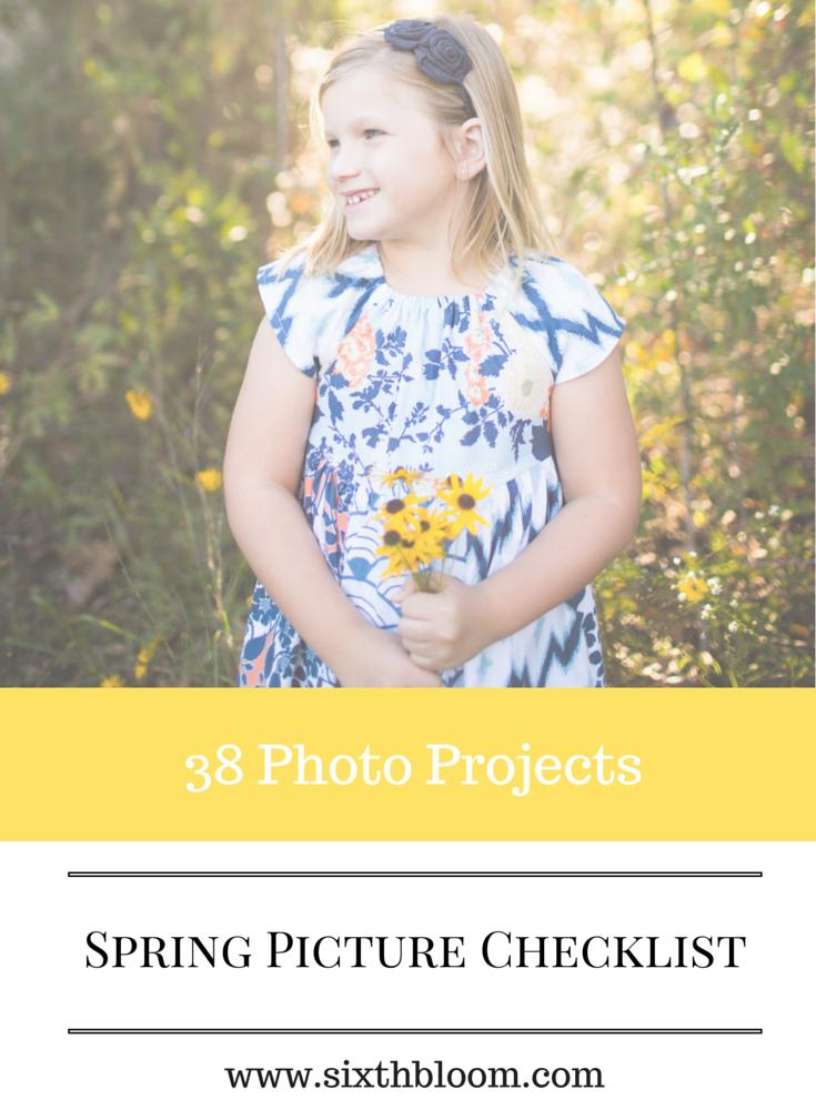 spring photo checkilst