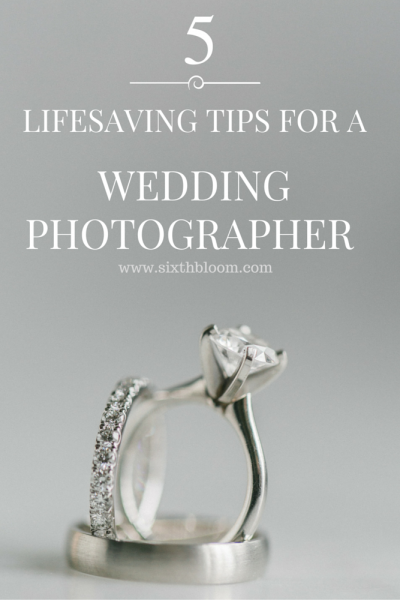 5 Lifesaving Tips for a Wedding Photographer