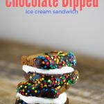 Chocolate Dipped Ice Cream Sandwich