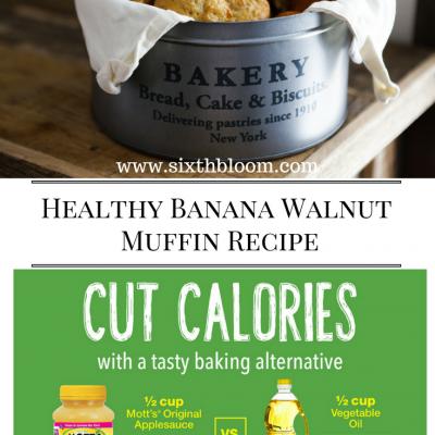 Healthy Banana Walnut Muffin Recipe