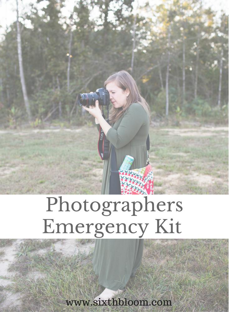 photographers emergency kit