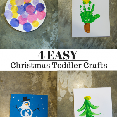 4 Simple Christmas Toddler Crafts