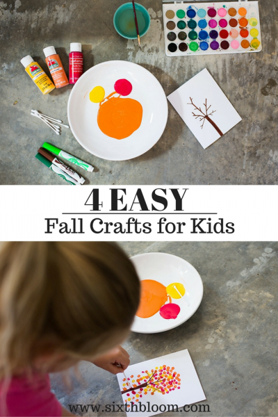 4 Easy Fall Kids Crafts for All Ages