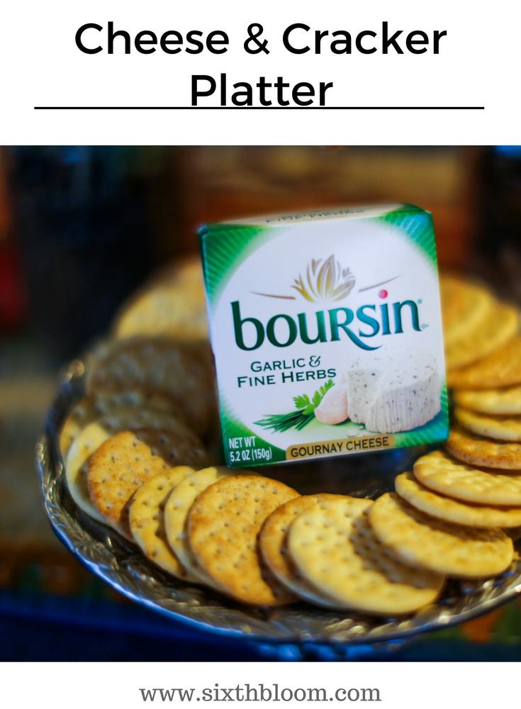 cheese cracker tray
