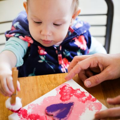 Toddler Valentine Craft + FREE Printable