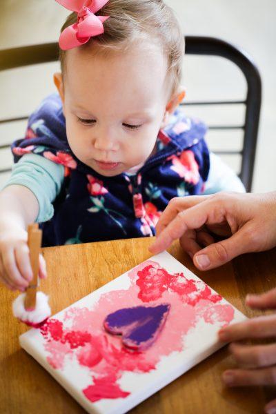 Toddler Valentine Craft + FREE Printable