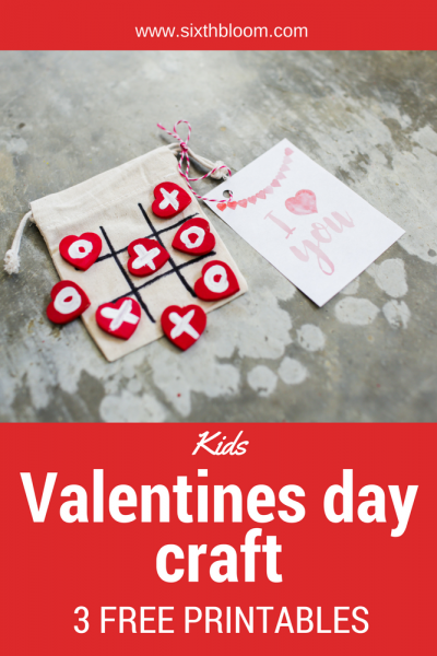 Kids Valentines Day Craft + Free Printable