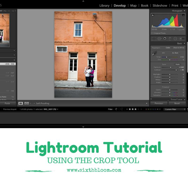 Lightroom Tutorial Using the Crop Tool