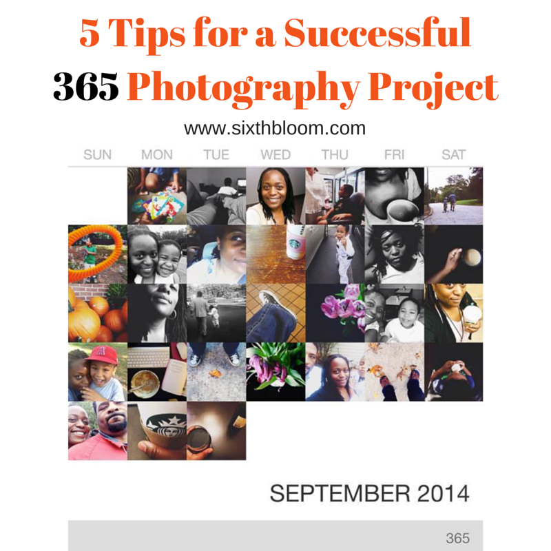 5 Tips for a Successful 365 Photography Project