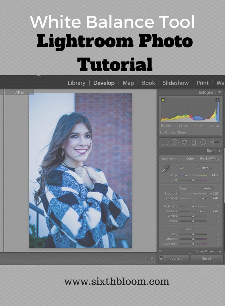 Lightroom Photo Tutorial White Balance