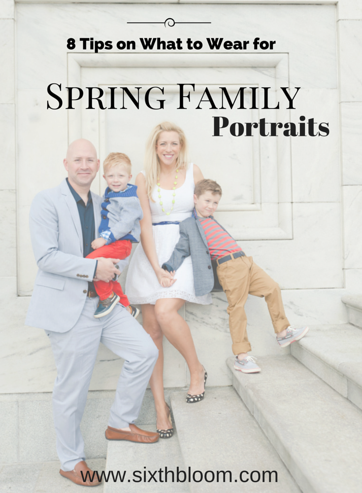 Winning Tips – What to Wear for Spring Family Pictures