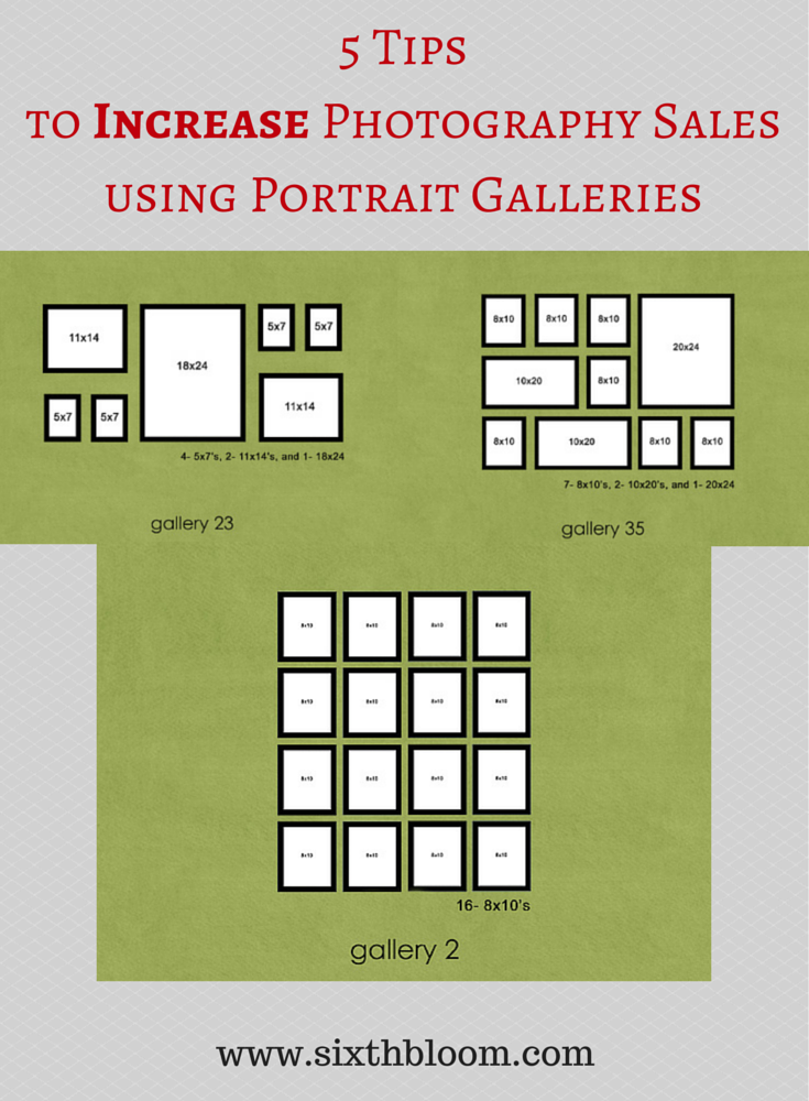 5 Tips to Increase Photography Sales using Portrait Galleries