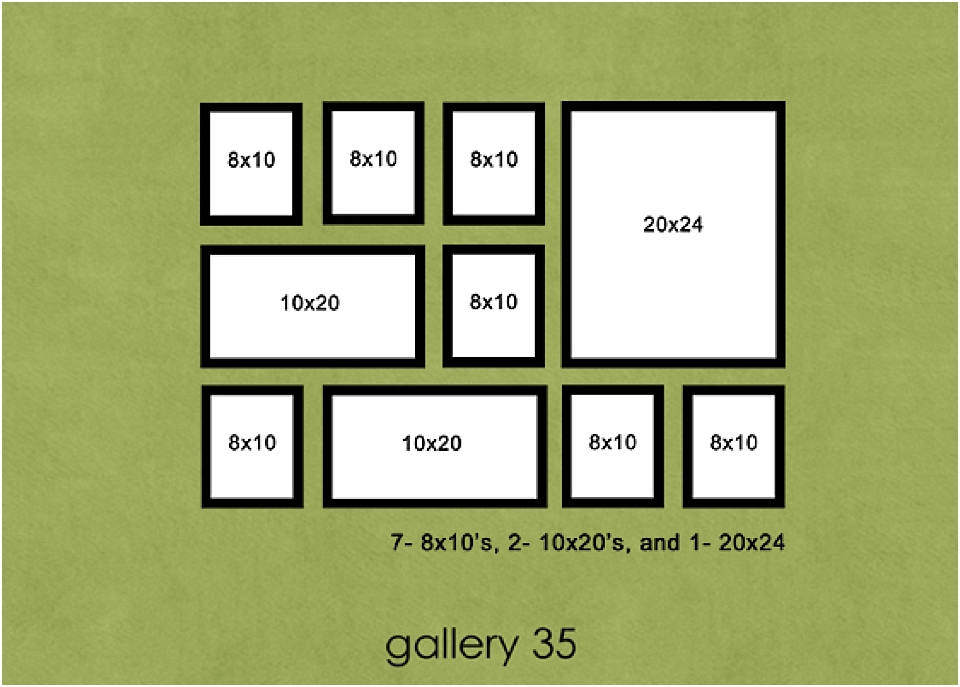 5 tips to increase photography sales using portrait galleries for Picture wall layout