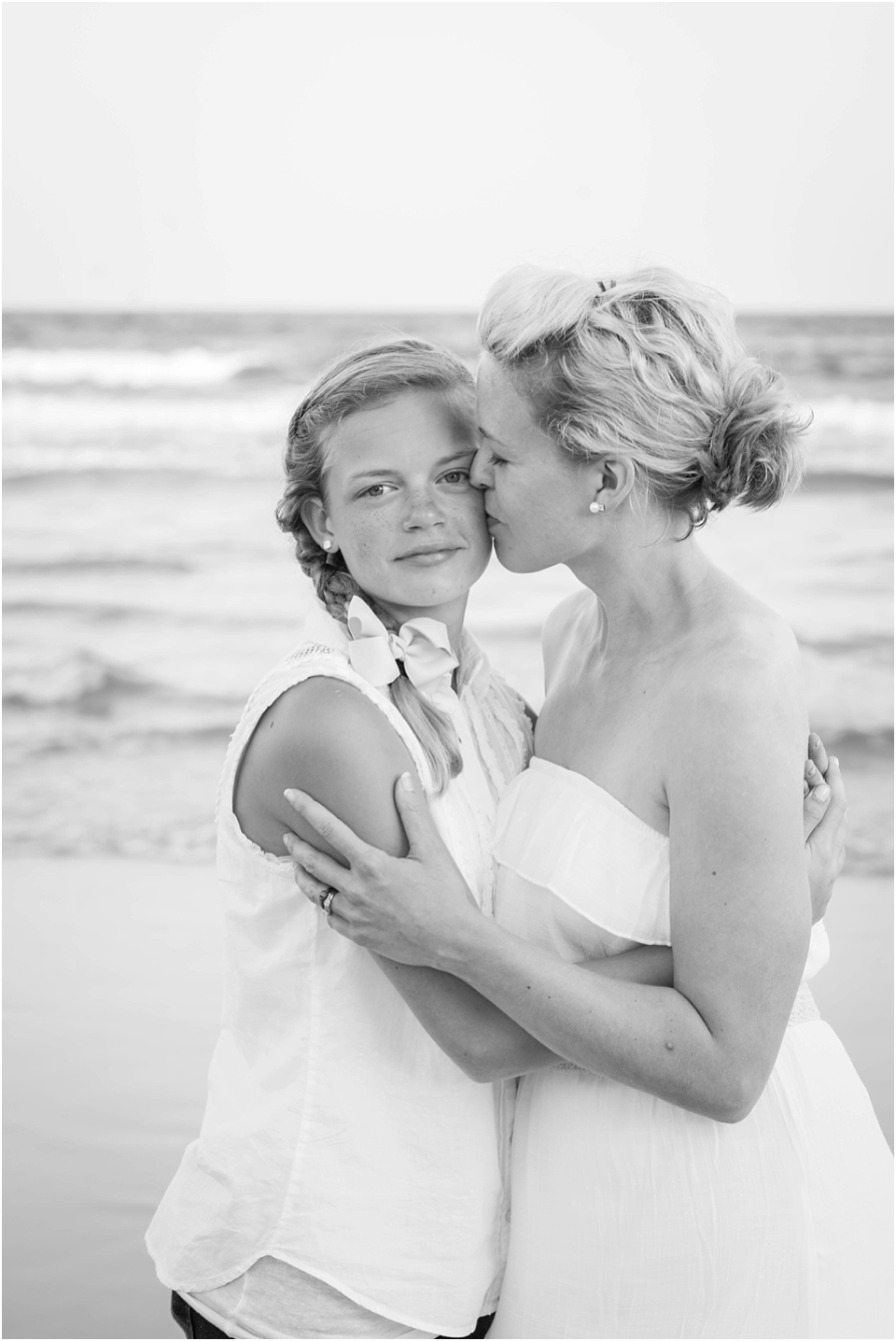 mother and daughter beach portraits