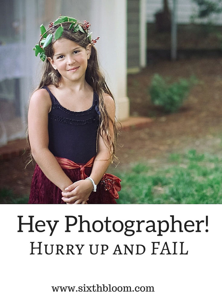 Hey Photographer! Hurry Up And Fail