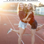 twin senior session ideas