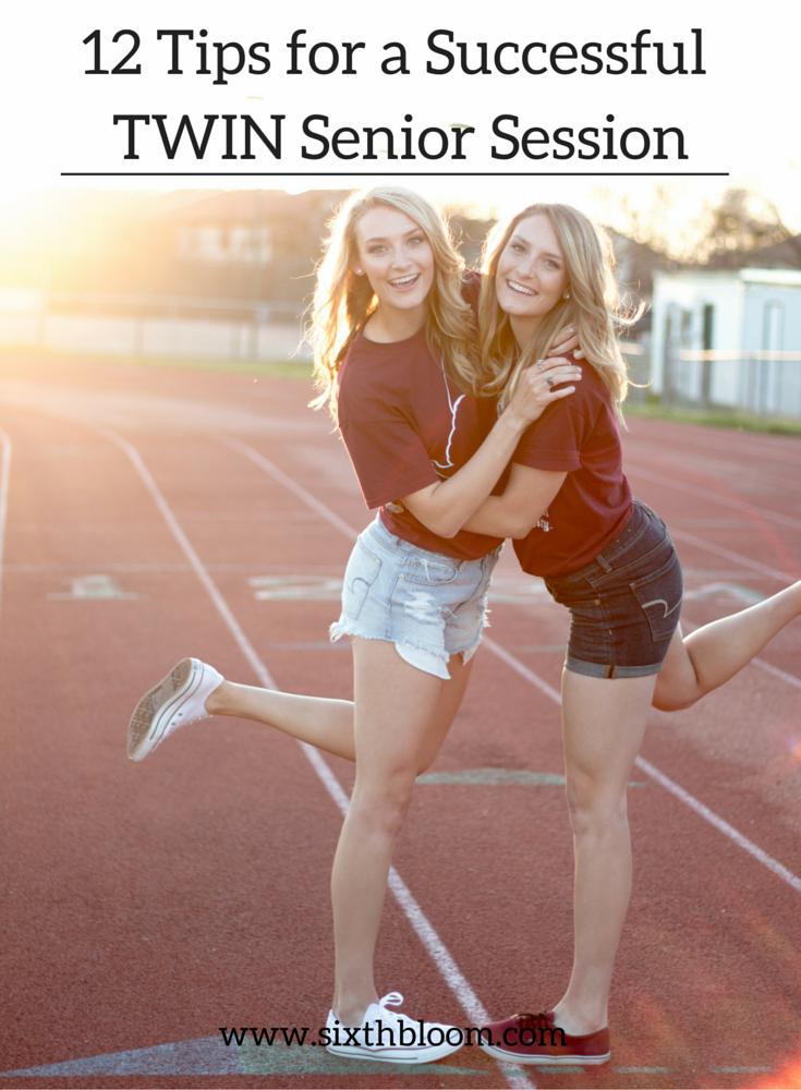 twin senior session ideas