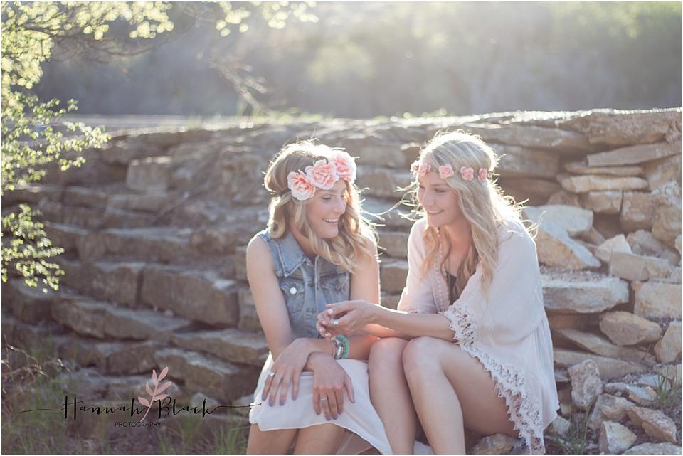 twin girls senior photo session
