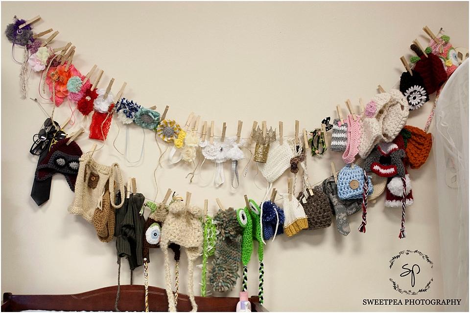 DIY Organize Newborn props