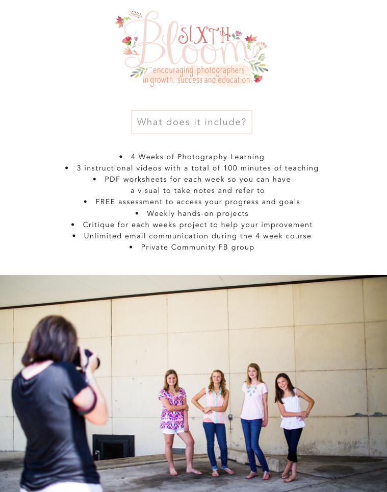basic online photography workshop