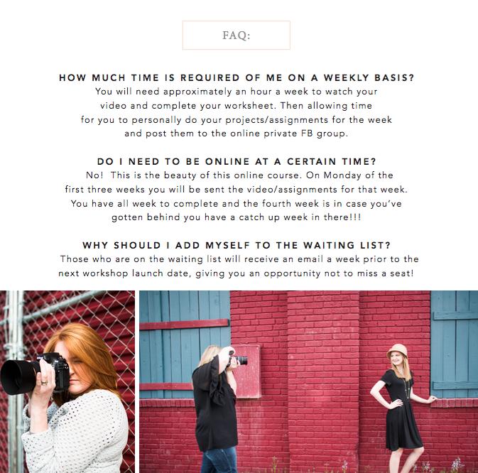 online photo workshop
