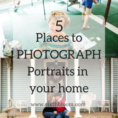 5 Places to Photograph Portraits in Your Home