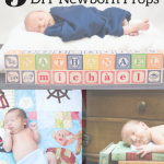 DIY newborn picture props