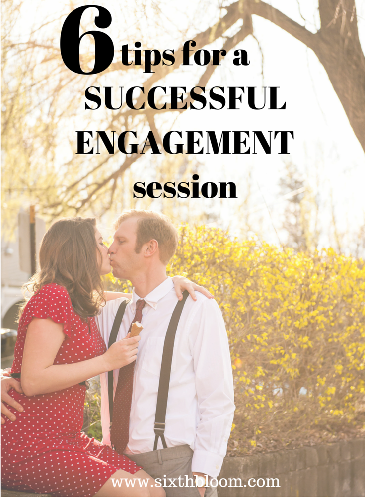 tips for an engagement session