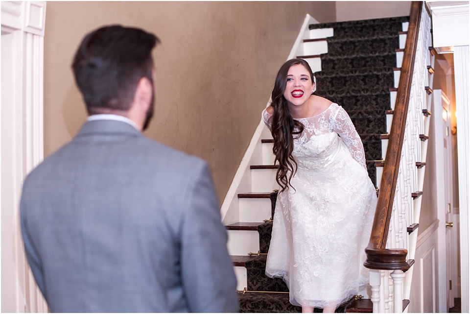 advice for a first look at a wedding