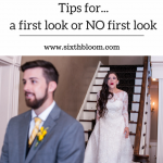 tips for photographing a first look at a wedding