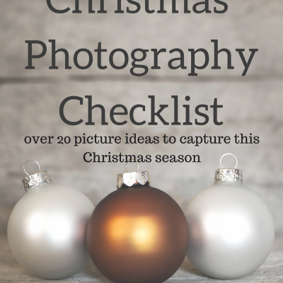 Fun Ideas: Christmas Photography Picture List