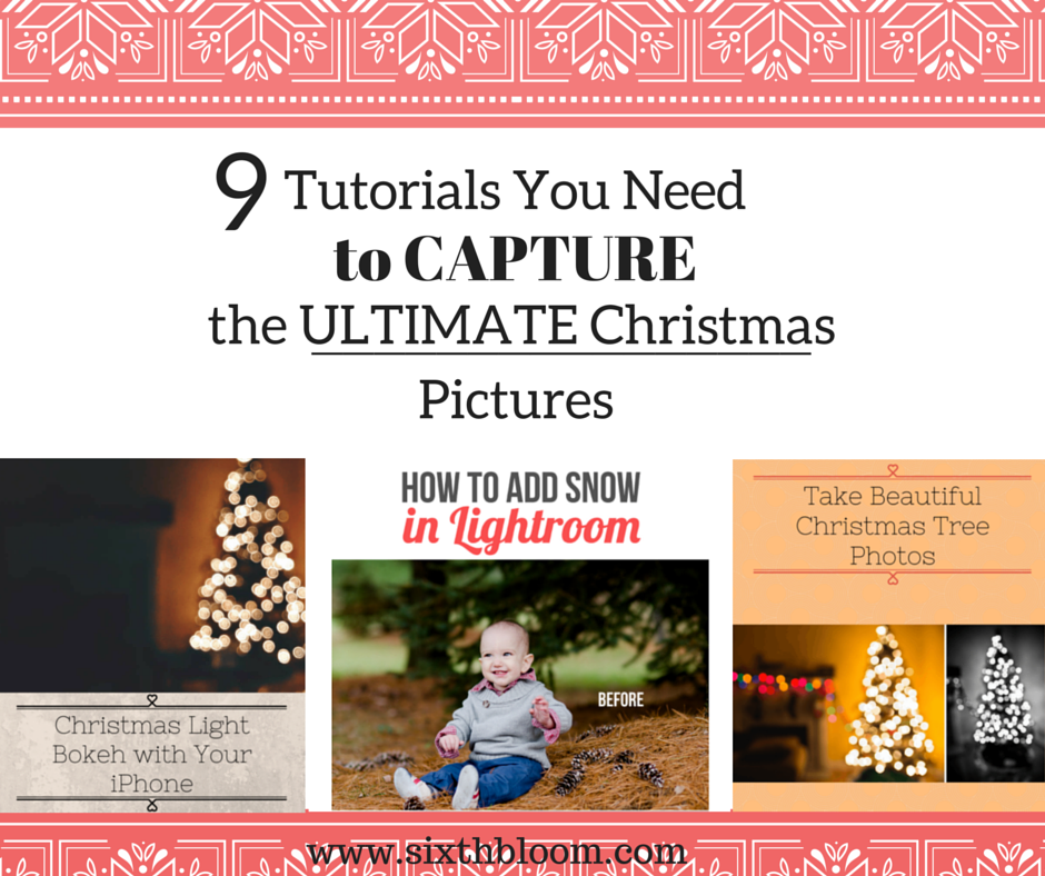 christmas picture tutorials