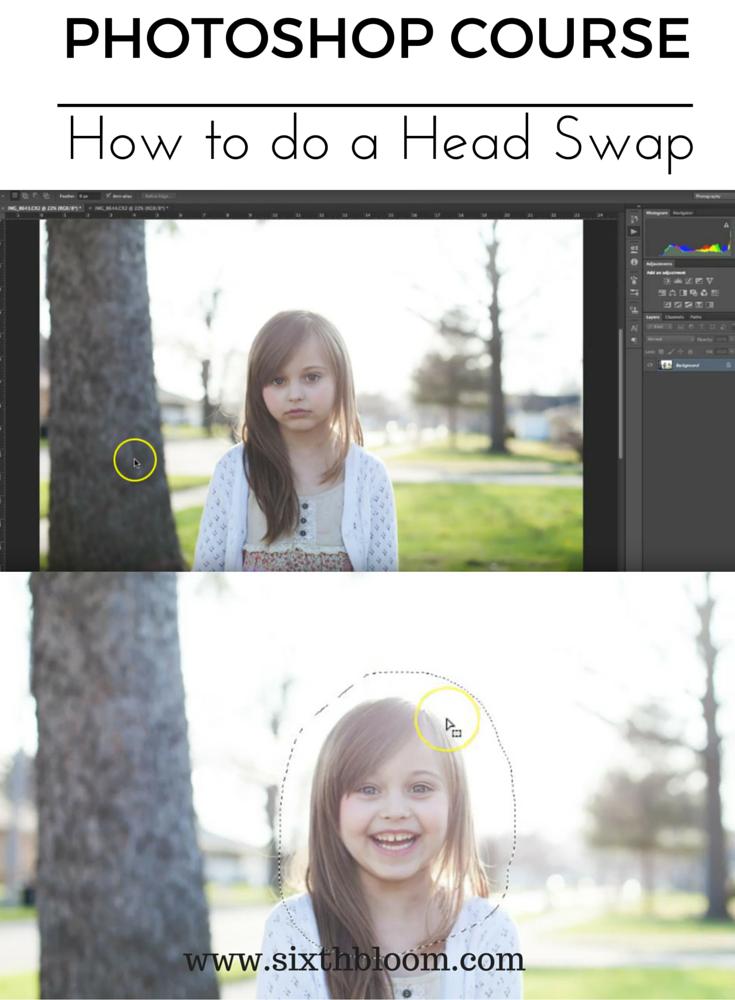 photoshop course head swap
