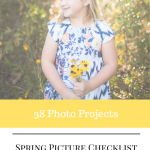 spring photo checkilst