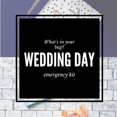 Wedding Day Emergency Kit for Photographers