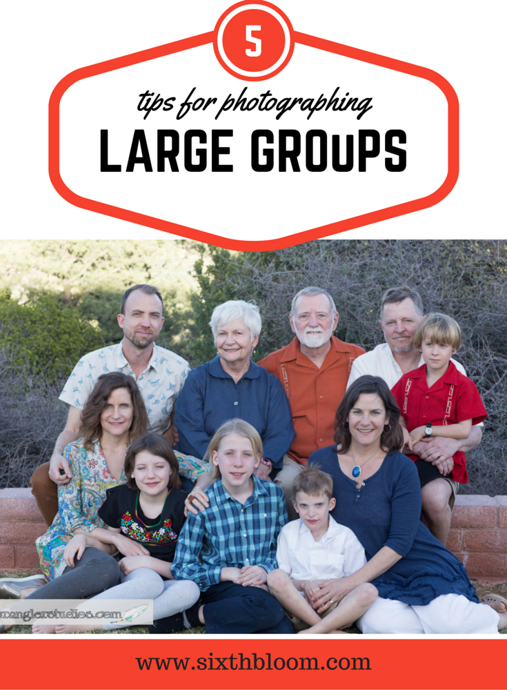 tips for large group pictures
