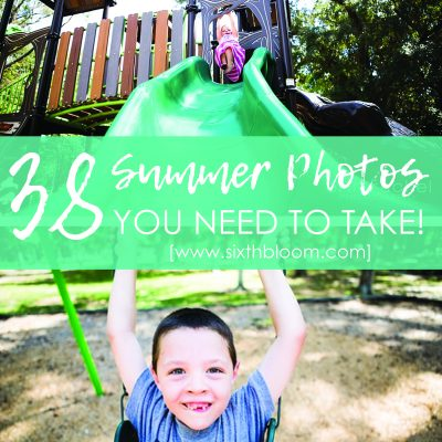 Summer Photo Checklist | 38 Projects
