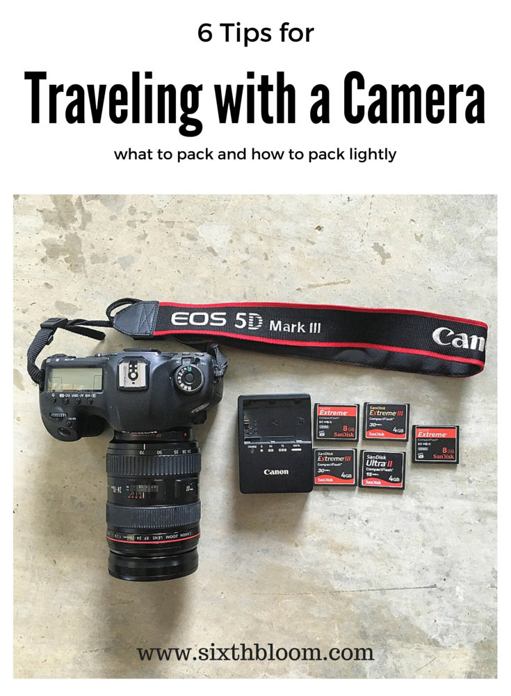 traveling with a camera