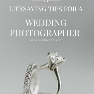 5 Lifesaving Tips for a Wedding Photographer