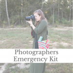 photographers emergency kit