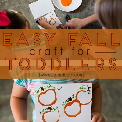 Easy Fall Craft for Toddlers