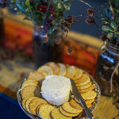 Boursin Cheese and Crackers Plate