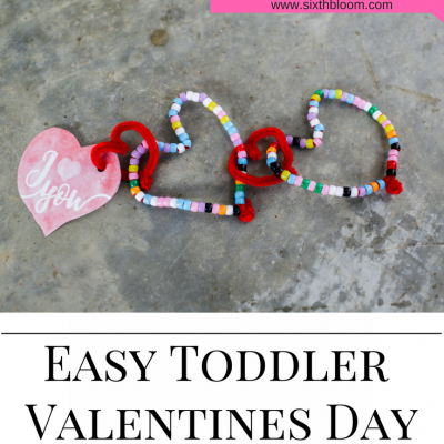 Easy Toddler Valentines Day Craft + Printable