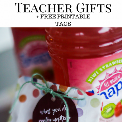 10 Inexpensive Teacher Gifts + FREE Printable Tags