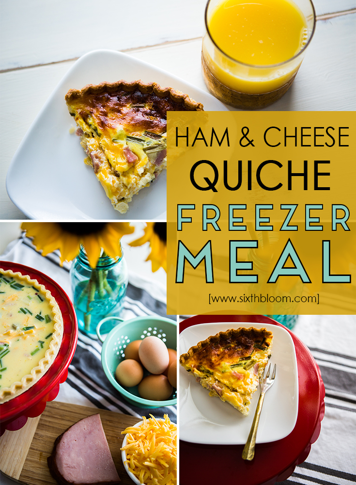 Quiche Recipe, Ham & Cheese Quiche, Freezer Meal