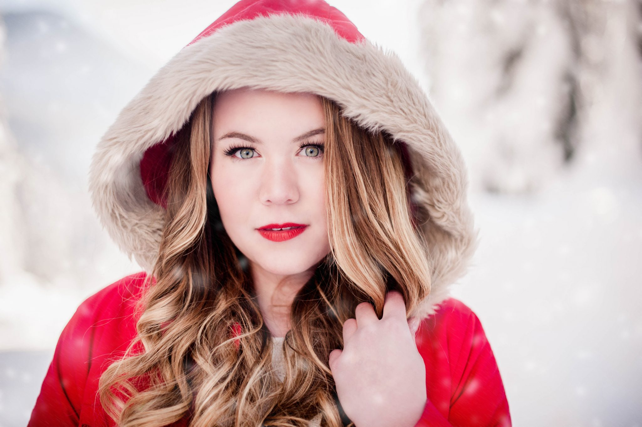snow portrait ideas